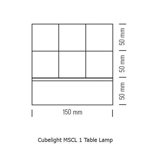 Buy online latest and high quality Cubelight MSCL 1 Table Lamp from Tecnolumen | Modern Lighting + Decor