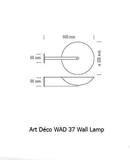 Art Deco WAD 37 Wall Lamp from Tecnolumen | Modern Lighting + Decor