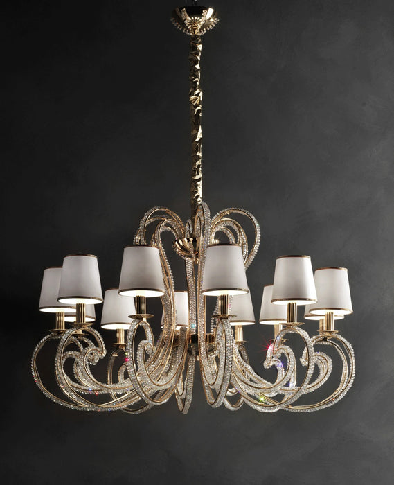 Crystalry-12 Chandelier from Masiero Luxury | Modern Lighting + Decor