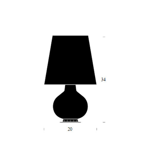 Buy online latest and high quality Fontana Total Black Table Lamp from Fontana Arte | Modern Lighting + Decor
