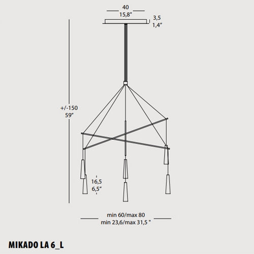 Buy online latest and high quality Mikado LA6 Chandelier from Morosini | Modern Lighting + Decor