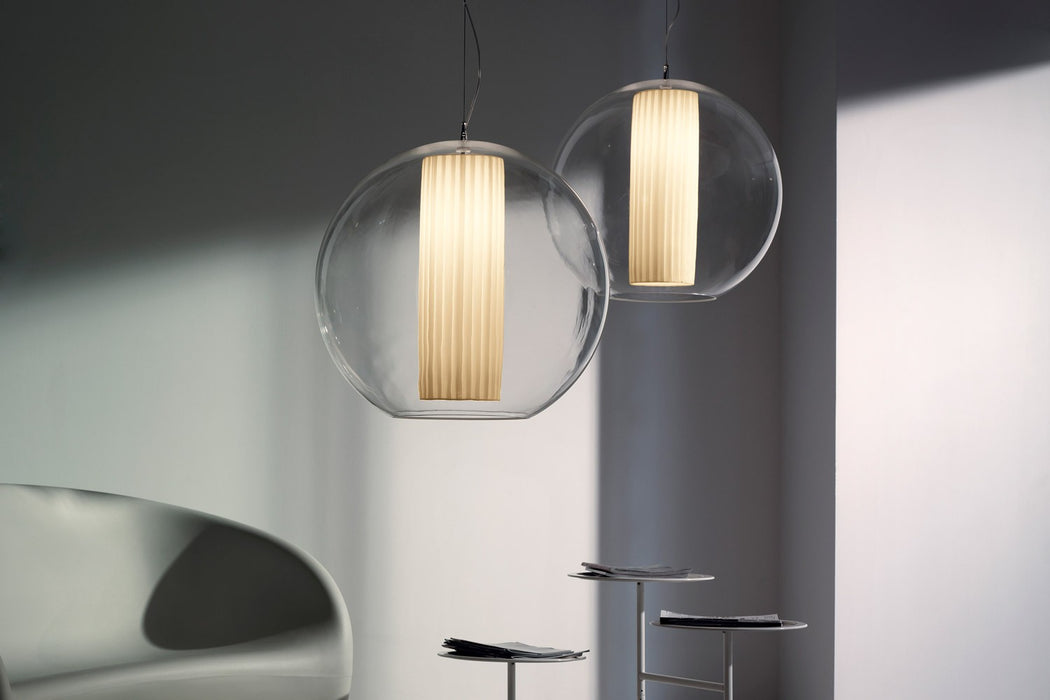 Bolla Pleated Medium Pendant from Modoluce | Modern Lighting + Decor