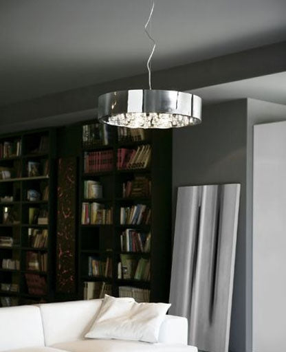 T20 Circle Suspension Lamp from ITALAMP | Modern Lighting + Decor