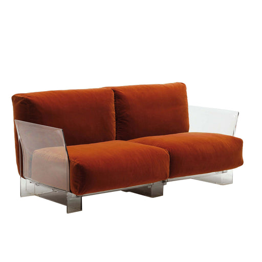 Buy online latest and high quality Pop Cotone Sofa Double Seat With Transparent Frame from Kartell | Modern Lighting + Decor