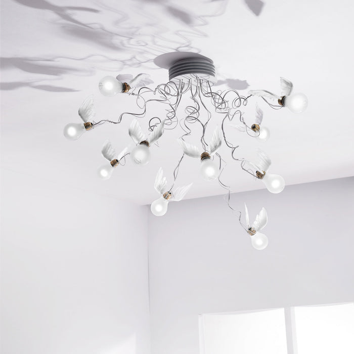 Birdie's Nest Ceiling Light from Ingo Maurer | Modern Lighting + Decor