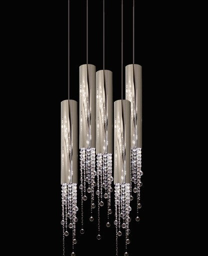 Sexy Crystals 5 Pendant Light from Ilfari | Modern Lighting + Decor