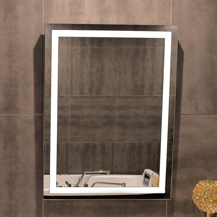 Backlit Bathroom Mirror Round 24 X 24 In from Paris Mirror | Modern Lighting + Decor