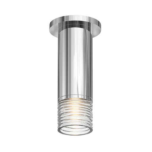 Alc Ceiling Light With Clear Ribbon Glass Trim | Modern Lighting + Decor
