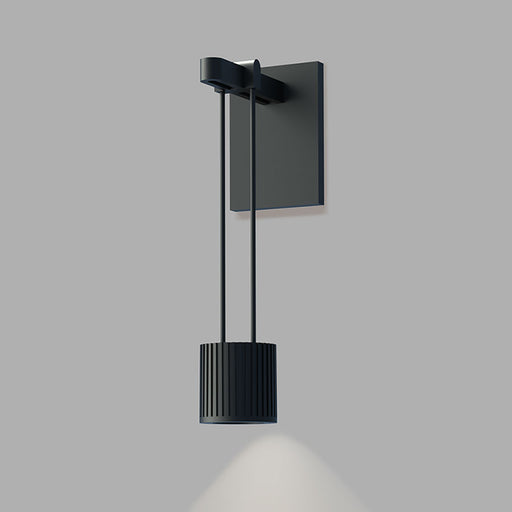 Suspenders Wall Light With Suspended Cylinder Luminaire | Modern Lighting + Decor