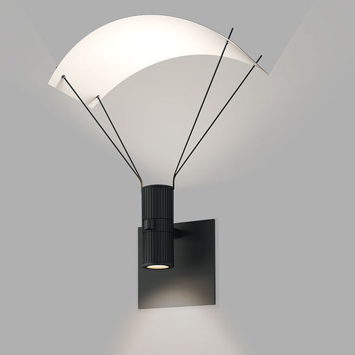 Suspenders Wall Light With Parachute Luminaire | Modern Lighting + Decor