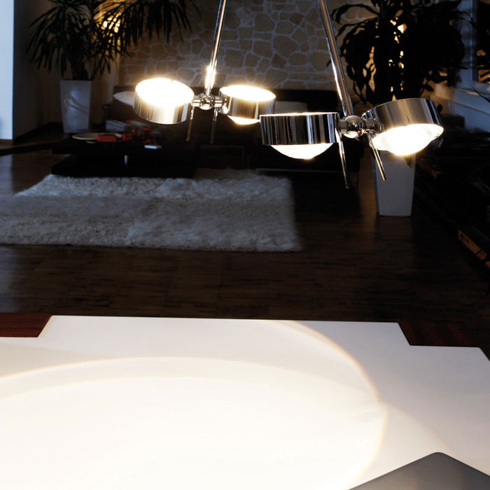 Puk Ceiling Sister Twin LED 80 cm from Top Light | Modern Lighting + Decor