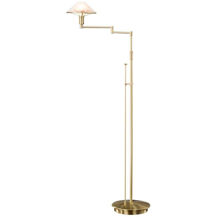 Buy online latest and high quality Aging Eye Glass Shade Swing Arm Floor Lamp from Holtkotter | Modern Lighting + Decor
