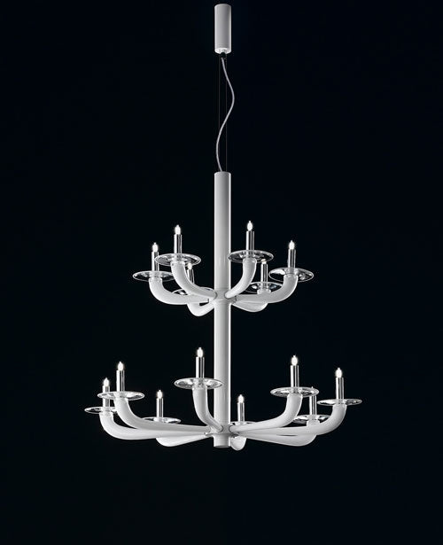 Natural K Chandelier from De Majo | Modern Lighting + Decor