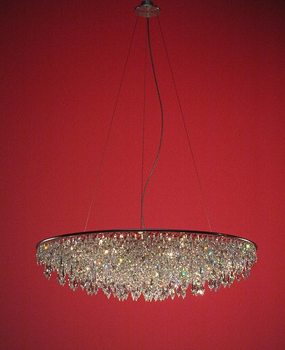 Grande crystal rain chandelier from Anthologie Quartett | Modern Lighting + Decor