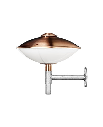 HL 410 Copper/Opal Acrylic Outdoor Wall Lamp from Lightyears | Modern Lighting + Decor