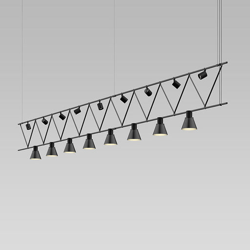 Suspenders Truss Pendant W/ Direct And Decorative Cylinders | Modern Lighting + Decor