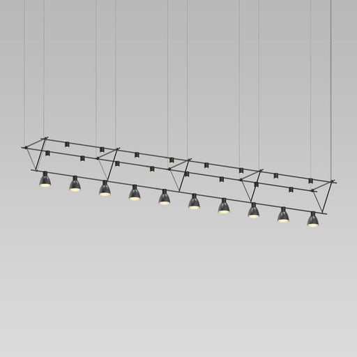 Suspenders Truss Pendant W/ Direct Mount Cylinders | Modern Lighting + Decor