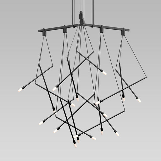 Buy online latest and high quality Suspenders Tri-bar Chandelier With Branch Luminaires from Sonneman | Modern Lighting + Decor