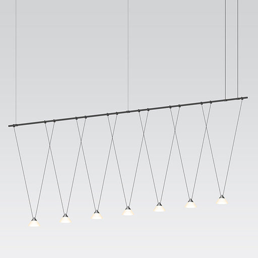 Suspenders Linear Pendant With V-line Cone Luminaires | Modern Lighting + Decor