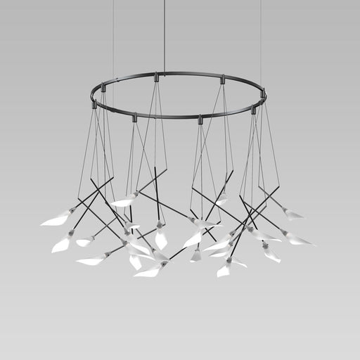 Buy online latest and high quality Suspenders Ring Chandelier With Calla Luminaires from Sonneman | Modern Lighting + Decor