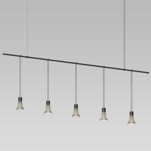 Suspenders Linear Pendant With Parasol Shade Cylinders | Modern Lighting + Decor