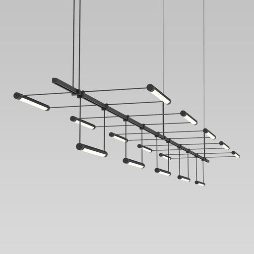 Suspenders Linear Pendant With Linear Rotational Luminaires | Modern Lighting + Decor