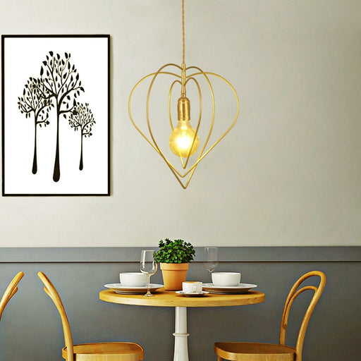 Thin Heart Pendant Light from Interior Deluxe | Modern Lighting + Decor