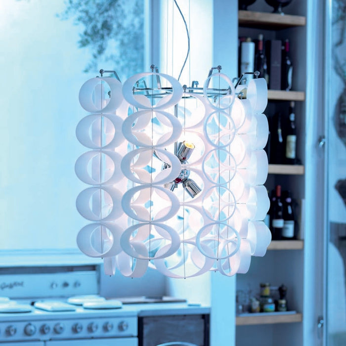 Buy online latest and high quality Disk Chandelier from Mazzega 1946 | Modern Lighting + Decor