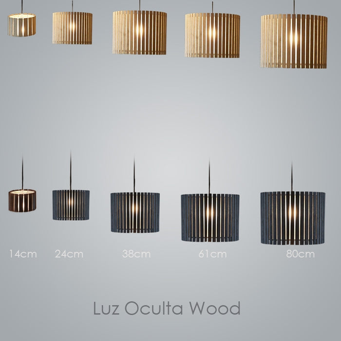 Buy online latest and high quality Luz Oculta Wood Pendant Light from Fambuena | Modern Lighting + Decor