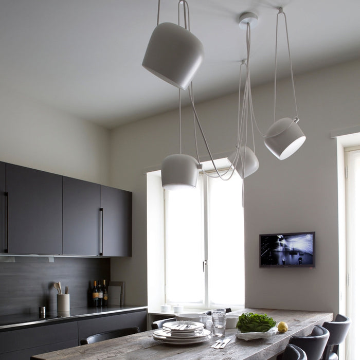 Buy online latest and high quality Aim Pendant Light - Set of 5 with Multicanopy from Flos | Modern Lighting + Decor