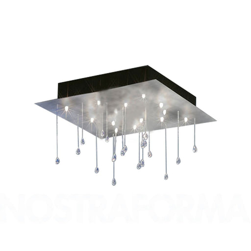 Buy online latest and high quality Crystal Rain Large Square Ceiling Light from Escale | Modern Lighting + Decor
