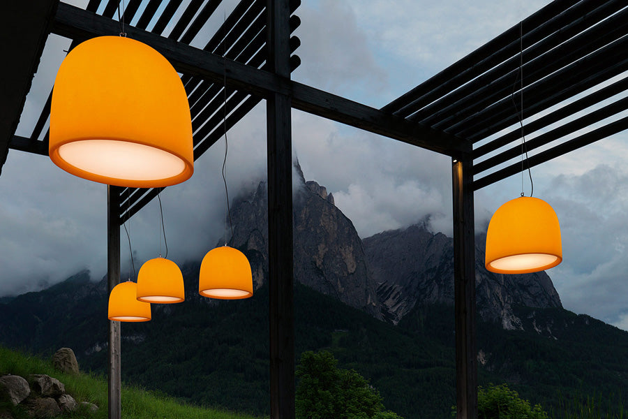 Campanone Outdoor Pendant Light from Modoluce | Modern Lighting + Decor