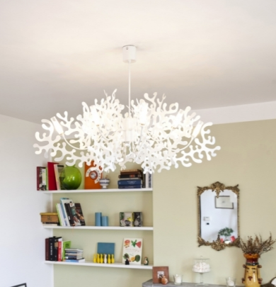 Buy online latest and high quality Super Coral 8L chandelier from Lumen Center Italia | Modern Lighting + Decor