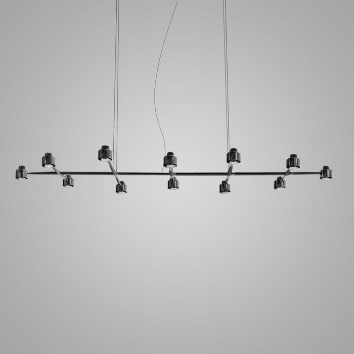 Buy online latest and high quality Spider Linear 12 Light Pendant Light from Fambuena | Modern Lighting + Decor