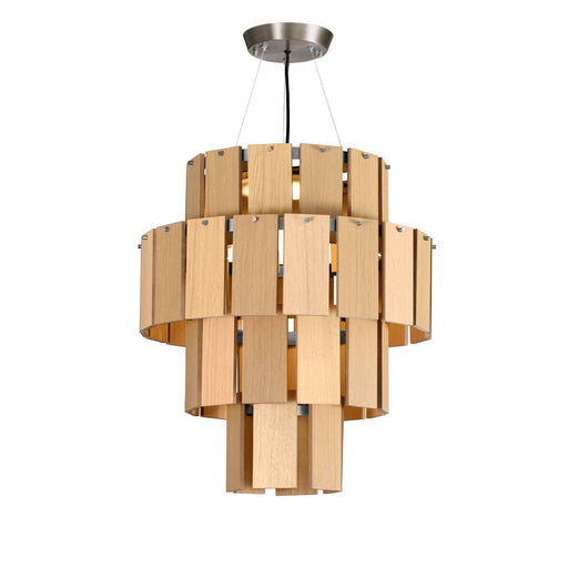 Quarz 22 Pendant Light - Oak from Fambuena | Modern Lighting + Decor