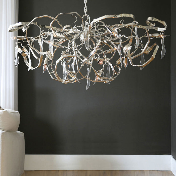 Delphinium Chandelier - Oval from Brand Van Egmond | Modern Lighting + Decor