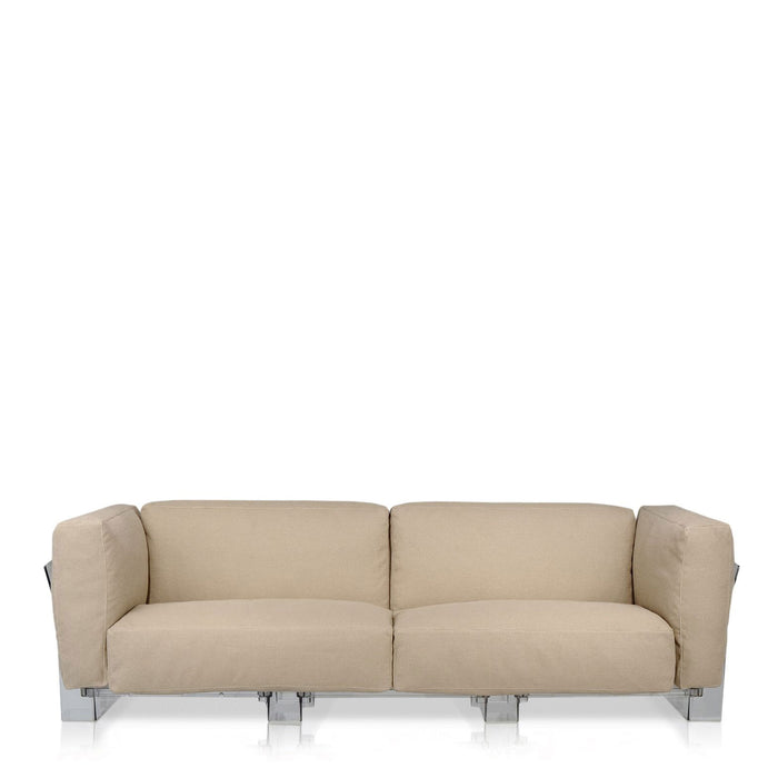 Pop Duo Sofa Double Seat With Transparent Frame from Kartell | Modern Lighting + Decor