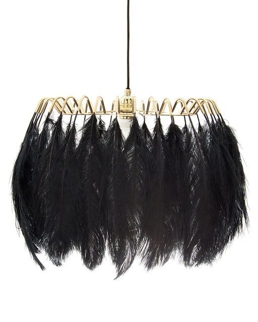 Feather Pendant Lamp Black from Mineheart | Modern Lighting + Decor