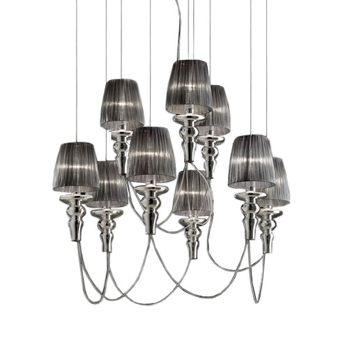 Gadora Chic SO 6+3 Suspension Lamp from EviStyle | Modern Lighting + Decor