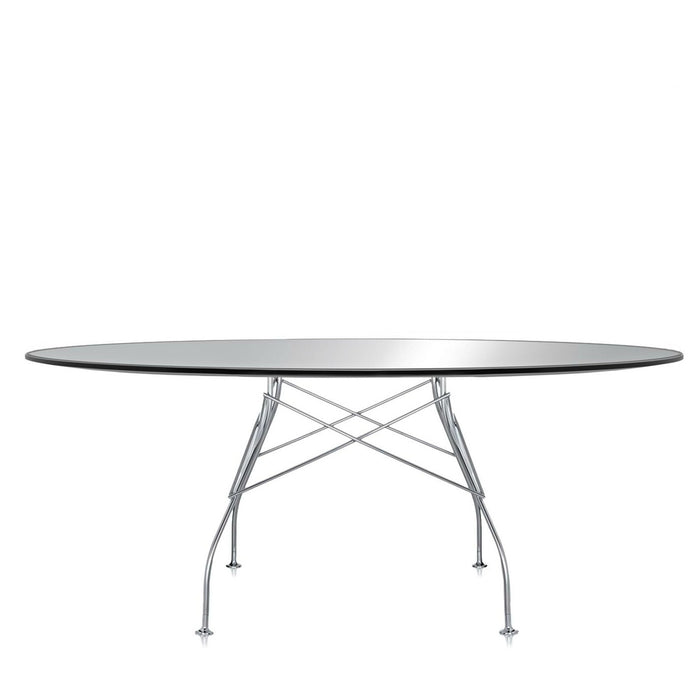 Glossy Table Oval Frame Silver from Kartell | Modern Lighting + Decor