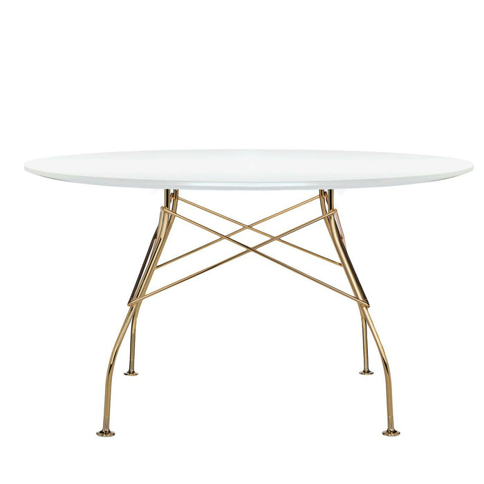 Glossy Table with Gold Frame from Kartell | Modern Lighting + Decor