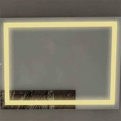 Dimmable Acrylic Illuminated Mirror 60 x 36 in from Paris Mirror | Modern Lighting + Decor
