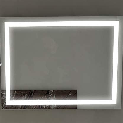 Dimmable Harmony Illuminated Mirror 48 x 28 in from Paris Mirror | Modern Lighting + Decor