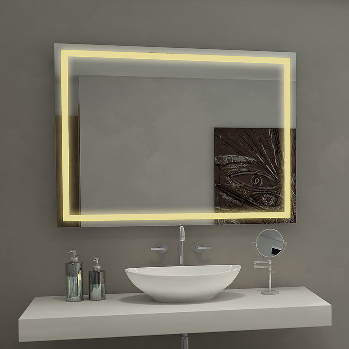 Dimmable Harmony Illuminated Mirror 40 x 35 In from Paris Mirror | Modern Lighting + Decor