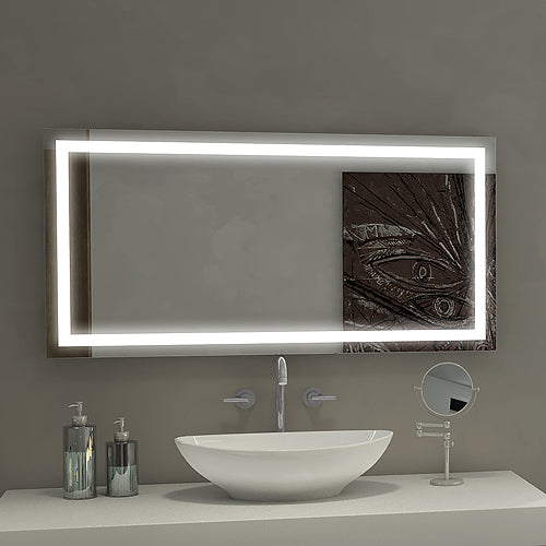 Lighted Mirror Harmony 48 x 24 in from Paris Mirror | Modern Lighting + Decor