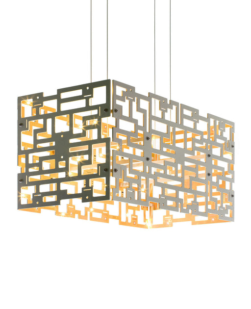Alumega 4 Panel Pendant - Rectangle from Anthologie Quartett | Modern Lighting + Decor