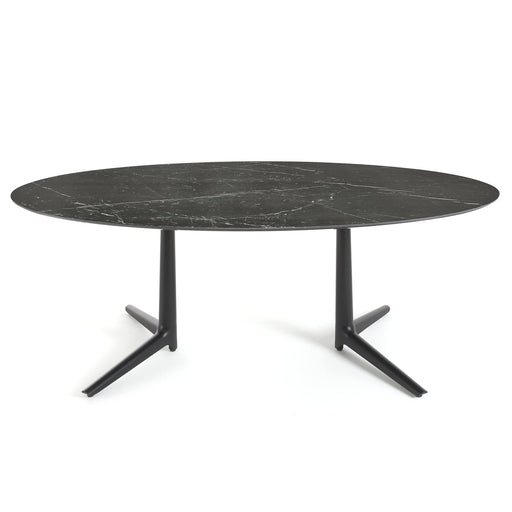 Buy online latest and high quality Multiplo XL Oval Table with 2 Spokes from Kartell | Modern Lighting + Decor