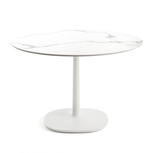 Buy online latest and high quality Multiplo Large Square Base Outdoor Table-Round Top from Kartell | Modern Lighting + Decor