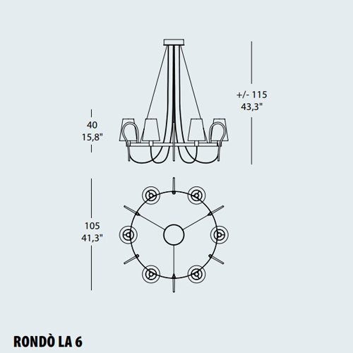 RondГІ LA6 Chandelier from EviStyle | Modern Lighting + Decor