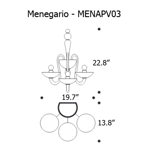 Buy online latest and high quality Menegario Wall Light from Mazzega 1946 | Modern Lighting + Decor
